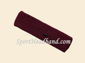 Maroon custom head band sports sweat terry