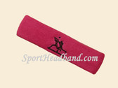 Hot Pink custom sport sweat headbands terry