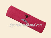Hot Pink custom sports head band sweat terry
