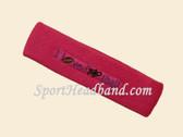 Hot Pink custom terry headbands sports sweat