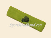 Lime Green custom sport sweat head band terry