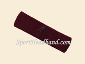 Maroon custom sport headband sweat terry