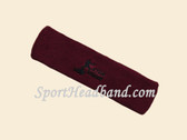Maroon custom sport head band sweat terry