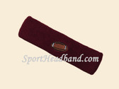 Maroon custom headband sport sweat terry
