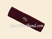 Maroon custom terry head band sports sweat