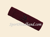 Maroon custom sport sweat headbands terry