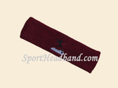 Maroon custom sports headband sweat terry