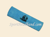 Sky Blue custom sport headbands sweat terry