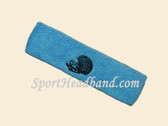 Sky Blue custom sport sweat head band terry