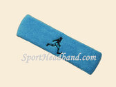 Sky Blue custom terry headband sports sweat