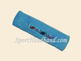 Sky Blue custom terry headbands sports sweat