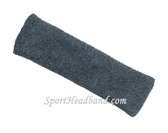 Large Charcoal(Dark Grey) sports sweat headband pro