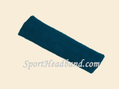 Dark Blue terry sport headband for sweat