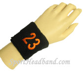 Custom Embroidery Text/Number/Logo 2.5 inch sport terry wristband