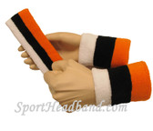 "Light Orange Black White sports sweat headband 4"" wristbands set"
