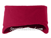 Red Polar Fleece Headband(1 Piece)