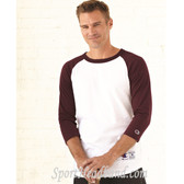 Cotton Three-quarter sleeves Raglan Baseball T-Shirt