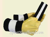 Black White Black sports sweat headband wristbands Set
