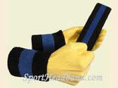 Black Blue Black sports sweat headband wristbands Set