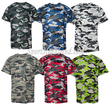 Youth Camouflage Short Sleeve Tee Shirt front view