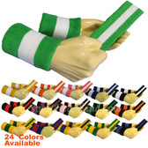 Sports 2 colored Sweat Headband Wristbands Sets