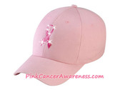 Pink Cancer awareness Cap with Pink Ribbon