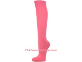 Pink Cancer awareness Athletic Knee Socks