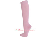 Light Pink Cancer awareness Athletic Knee Socks