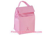 Pink Cancer awareness Lunch Bag with Pink Ribbon