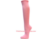 Light Pink Cancer awareness Knee Socks
