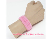 Light Pink Cheap Cancer Awareness 1inch Wrist Band, 1PIECE