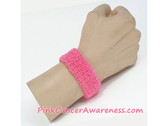 Pink Cheap Cancer Awareness 1inch Wrist Band, 1PIECE