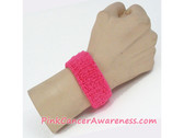Bright Pink Cheap Cancer Awareness 1inch Wrist Band, 1PIECE