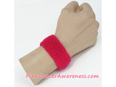 Hot Pink Cheap Cancer Awareness 1inch Wrist Band, 1PIECE