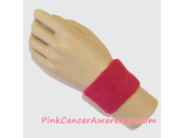Hot Pink Cheap Cancer awareness 2.5 inch Wrist Band, 1PC