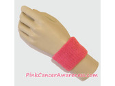 Bright Pink Cheap Cancer awareness 2.5 inch Wrist Band, 1PC