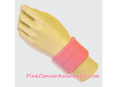 Pink Cheap Cancer awareness 2.5 inch Wrist Band, 1PC