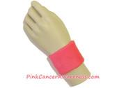 Bright Pink Cancer Awareness 2.5inch Sport Wrist Band, 1PIECE