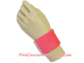 Bright Pink Cancer Awareness 2.5inch Sport Wrist Band, 1PIECE