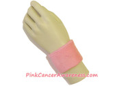 Pink Cancer Awareness 2.5inch Sport Wrist Band, 1PIECE