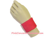 Hot Pink Cancer Awareness 2.5inch Sport Wrist Band, 1PIECE