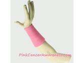 Pink Cancer Awareness 6inch Long Sports Wrist Band, 1PC