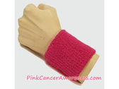 Hot Pink Cancer Awareness 3 inch Cheap Wristband, 1PC