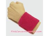 Hot Pink Cancer Awareness 3 inch Cheap Wristband, 1PC