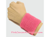 Pink Cancer Awareness 3 inch Cheap Wristband, 1PC