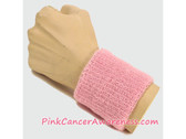 Light Pink Cancer Awareness 3 inch Cheap Wristband, 1PC