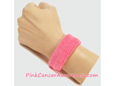 1inch Pink Sports Wrist Band for Cancer Awareness, 1PIECE