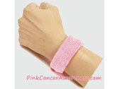1inch Light Pink Sports Wrist Band for Cancer Awareness, 1PIECE