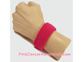 1inch Hot Pink Sports Wrist Band for Cancer Awareness, 1PIECE
