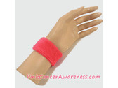 Bright Pink 1inch Kids Sports Wrist Band, 1PIECE